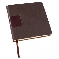 Ежедневник недатированный Scotty, А5-,  темно-коричневый, кремовый блок, без обреза
