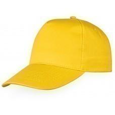 """Бейсболка """"Memphis"""" 5-ти панельная, золотисто-желтый"""