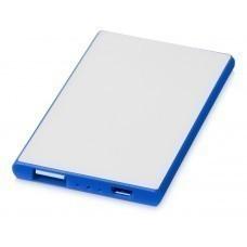 """Портативное зарядное устройство """"Slim Credit Card"""", ярко-синий"""