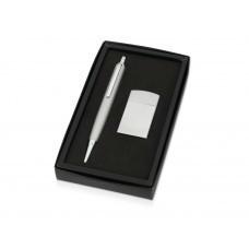 """Набор """"Логистик"""": ручка шариковая, зажигалка, серебристый"""