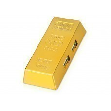 USB Hub на 4 порта «Слиток золота»