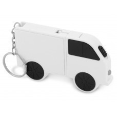 Рулетка в виде автомобиля с набором отверток, белый