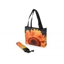 Набор «Подсолнух»: зонт складной полуавтоматический и сумка для шопинга