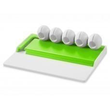 """Органайзер для кабелей """"Gizmo"""", белый/зеленый лайм"""