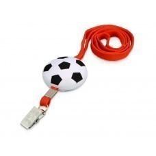 Ремешок на шею «Футбол», красный/белый/черный