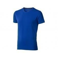 """Футболка """"Kawartha"""" мужская с V-образным вырезом, синий"""