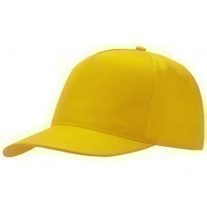 "Бейсболка ""Poly"" 5-ти панельная, желтый"
