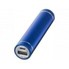 """Портативное зарядное устройство """"Bolt"""", 2200 мА/ч, черный, ярко-синий"""