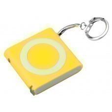Брелок-рулетка с фонариком, 1 м., желтый/белый