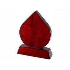 Плакетка «Капля», красное дерево