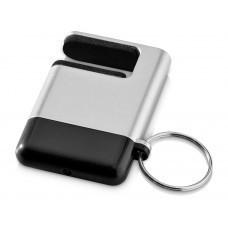 """Подставка-брелок для мобильного телефона """"GoGo""""с губкой для чистки экрана, черный"""