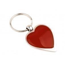 """Брелок """"Heart"""", красный/серебристый"""