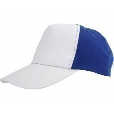 """Бейсболка """"Arizona"""" 5-ти панельная, белый/классический синий"""