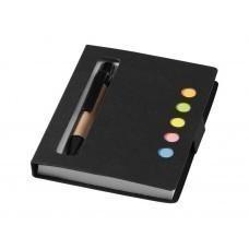 """Набор стикеров """"Reveal"""" с ручкой и блокнотом А7, черный"""