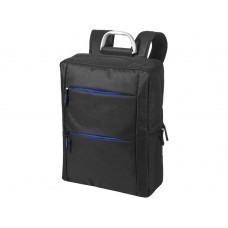"""Рюкзак """"Boston"""" для ноутбука 15,6"""", черный/ярко-синий"""