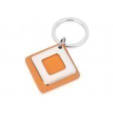Брелок, оранжевый/серебристый
