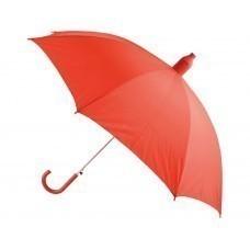 """Зонт-трость """"Телескоп"""" полуавтомат, красный"""