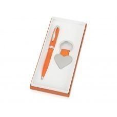 """Подарочный набор """"Сердце"""": ручка шариковая, брелок, оранжевый"""