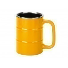 """Кружка """"Баррель"""" 400мл, желтый"""