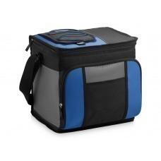 Сумка-холодильник на 24 банки с удобным карманом, синий