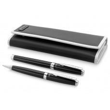 """Набор ручек """"Cherbourg"""" в чехле: ручка шариковая и роллер, черный, черные чернила"""