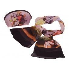 Набор «Букет»: косметичка и шарф