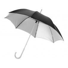 """Зонт трость """"Tristane"""", механический 23"""", черный/серебристый"""