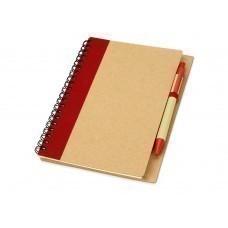 """Блокнот А6 """"Priestly"""" с ручкой, красный"""