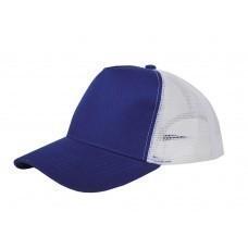 """Бейсболка """"Mesh"""" 5-панельная, классический синий"""