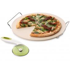 Набор для пиццы: подставка и нож.