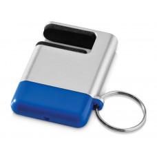 """Подставка-брелок для мобильного телефона """"GoGo""""с губкой для чистки экрана, синий"""