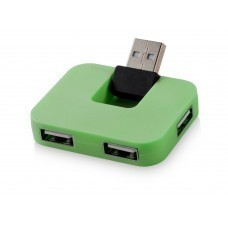 "USB Hub ""Gaia"" на 4 порта, зеленый"