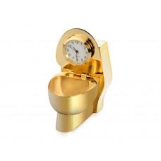 Часы «Золотой унитаз», золотистый
