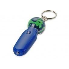 Брелок-фонарик с плавающей мини-фигурой «Земной шар», синий/зеленый