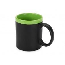 Кружка на 320 мл с покрытием для рисования мелом (мелки в комплект не входят), шт.,  зеленый