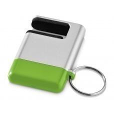 """Подставка-брелок для мобильного телефона """"GoGo"""", серебристый/зеленый"""