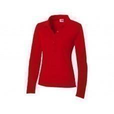 """Рубашка поло """"Seattle"""" женская с длинным рукавом, красный"""