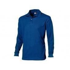 """Рубашка поло """"Seattle"""" мужская с длинным рукавом, классический синий"""