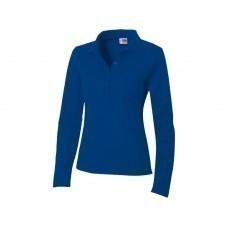"""Рубашка поло """"Seattle"""" женская с длинным рукавом, классический синий"""