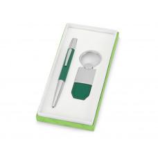 Набор «Калипсо»: ручка шариковая, брелок, зеленый