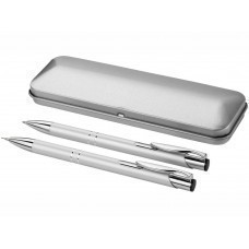 """Набор """"Dublin"""": ручка шариковая, карандаш механический, серебристый"""