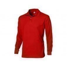 """Рубашка поло """"Seattle"""" мужская с длинным рукавом, красный"""