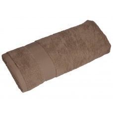 Полотенце махровое «Банный день», коричневый