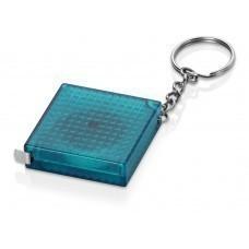 Брелок-рулетка из светоотражающего материала, 1 м., синий/серебристый