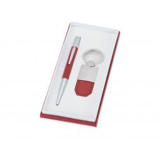 Набор «Калипсо»: ручка шариковая, брелок, красный