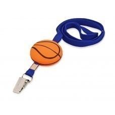 Ремешок на шею «Баскетбол», синий/оранжевый