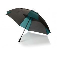 """Зонт трость """"Helen"""", механический 30"""", черный/темно-зеленый"""