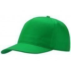 """Бейсболка """"Poly"""" 5-ти панельная, зеленый"""