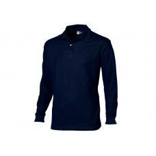 """Рубашка поло """"Seattle"""" мужская с длинным рукавом, темно-синий"""