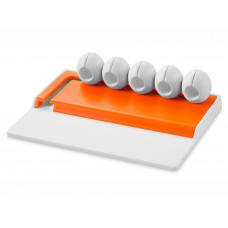 """Органайзер для кабелей """"Gizmo"""", белый/оранжевый"""
